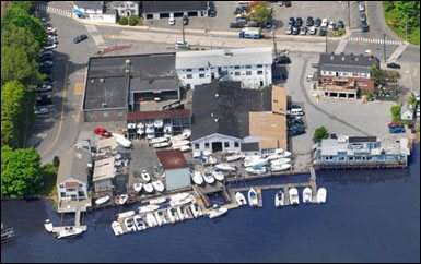 Westport location aerial view